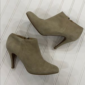 J. Crew Suede Heeled Booties - sz 9.5